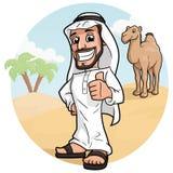 阿拉伯人在沙漠 皇族释放例证