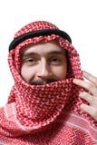 阿拉伯人微笑的年轻人 免版税图库摄影