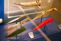 阿拉伯人用匕首刺古老古董-沙扎博物馆 免版税图库摄影
