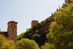 阿拉伯人的占领的格拉纳达安大路西亚西班牙记忆阿尔罕布拉宫差不多1000年 库存图片