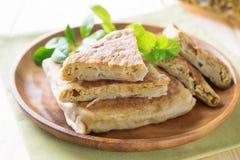 阿拉伯人被充塞的面包 免版税库存图片