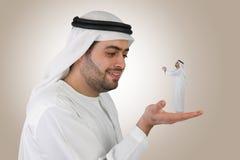 阿拉伯企业c沟通的人 图库摄影