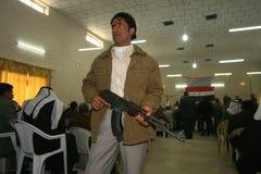 阿拉伯伊拉克好战分子 库存照片