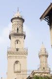 阿拉伯伊斯兰教的清真寺在开罗埃及 图库摄影