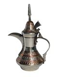 阿拉伯传统咖啡金属老的罐 库存照片