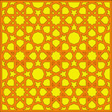 阿拉伯几何纹理网眼图案 库存图片