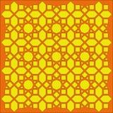 阿拉伯几何纹理网眼图案 免版税库存图片
