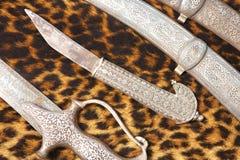 阿拉伯刀子 库存照片