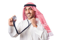 阿拉伯医生 库存照片