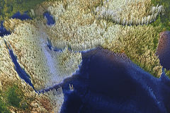 阿拉伯半岛和印度 库存图片
