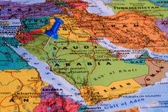 阿拉伯半岛映射沙特 库存照片