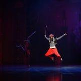 """阿拉伯半岛礼服红色长裤芭蕾""""One一千和一Nights† 图库摄影"""