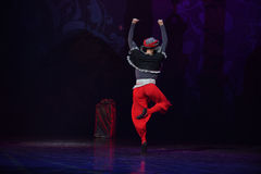 """阿拉伯半岛礼服红色长裤芭蕾""""One一千和一Nights† 免版税库存图片"""