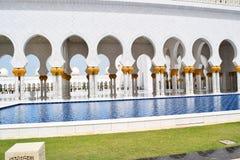 阿拉伯咖啡伟大扎耶德Grand Mosque回教族长 免版税库存照片