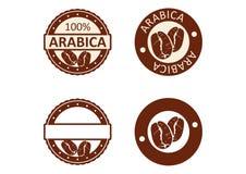 阿拉伯咖啡咖啡现代邮票 向量例证