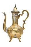 阿拉伯咖啡镀金罐 免版税图库摄影