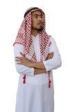 阿拉伯商人与裁减路线的被隔绝的背景 免版税库存图片