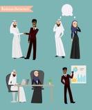 阿拉伯商人见面 库存照片