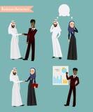 阿拉伯商人见面 库存图片