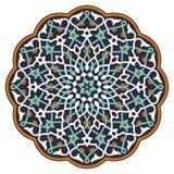 阿拉伯圆样式 免版税库存照片