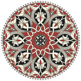 阿拉伯圆的模式 免版税库存图片