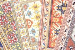 阿拉伯地毯丝绸 免版税库存照片