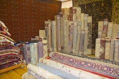 阿拉伯地毯的显示 库存照片