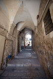 阿拉伯城市jeru老四分之一街道 库存图片