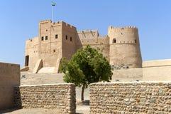 阿拉伯堡垒在富查伊拉 库存图片