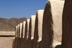 阿拉伯堡垒在Ras Al Khaimah 免版税库存照片