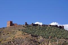 阿拉伯堡垒西班牙塔宾斯沙漠自行车赛 库存图片