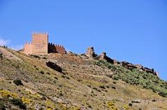 阿拉伯堡垒,塔宾斯沙漠自行车赛,西班牙。 免版税图库摄影
