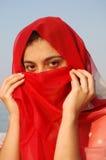 阿拉伯女孩秘密 免版税库存照片