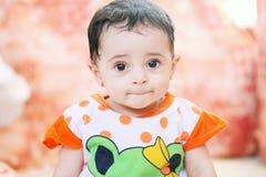 阿拉伯女婴 免版税图库摄影