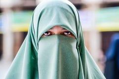阿拉伯妇女画象  库存图片