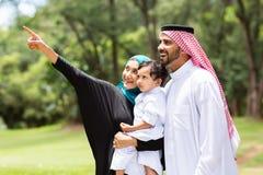 阿拉伯家庭森林 库存图片