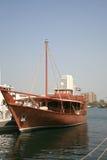 阿拉伯小船传统木 免版税库存图片
