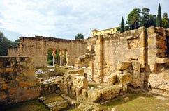 阿拉伯市的废墟麦地那Azahara,科多巴,安大路西亚,西班牙 库存照片