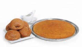 阿拉伯干酪kunafeh黎巴嫩被充塞的甜点 库存图片