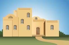 阿拉伯房子向量 免版税库存照片