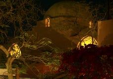 阿拉伯房子屋顶埃及夜 库存图片
