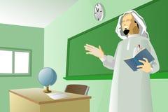 阿拉伯教师 免版税库存图片