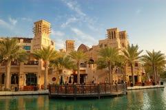 阿拉伯旅馆jumeirah madinat手段 免版税库存图片