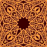 阿拉伯无缝的样式 免版税库存图片
