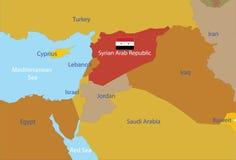 阿拉伯映射共和国叙利亚 库存例证