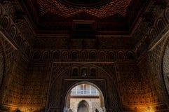 阿拉伯曲拱在塞维利亚 库存图片