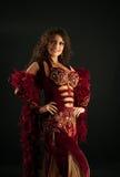 阿拉伯服装华美的纵向妇女 库存照片