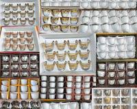 阿拉伯杯子的汇集 库存图片