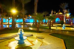 阿拉伯样式庭院, Sharm El谢赫,埃及 免版税库存照片