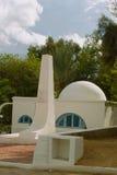阿拉伯样式的白色房子在杰尔巴岛 免版税库存图片